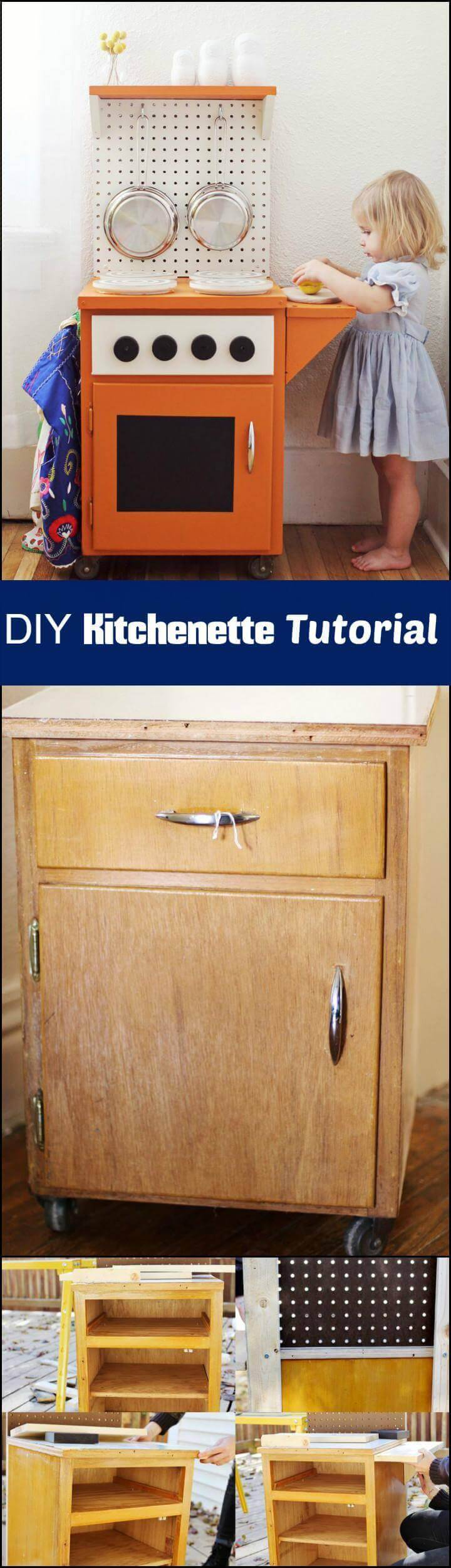 DIY handmade kitchenette tutorial