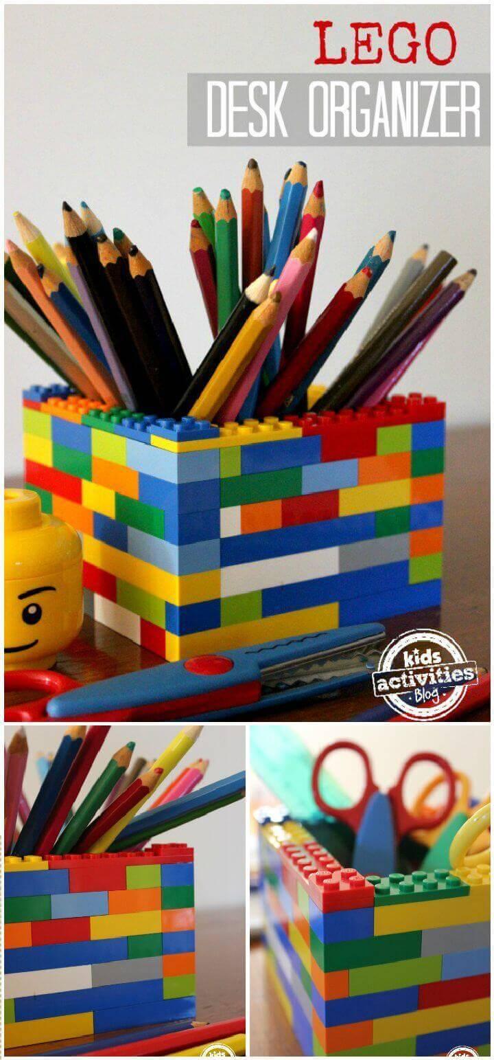 DIY Lego Desk Organizer