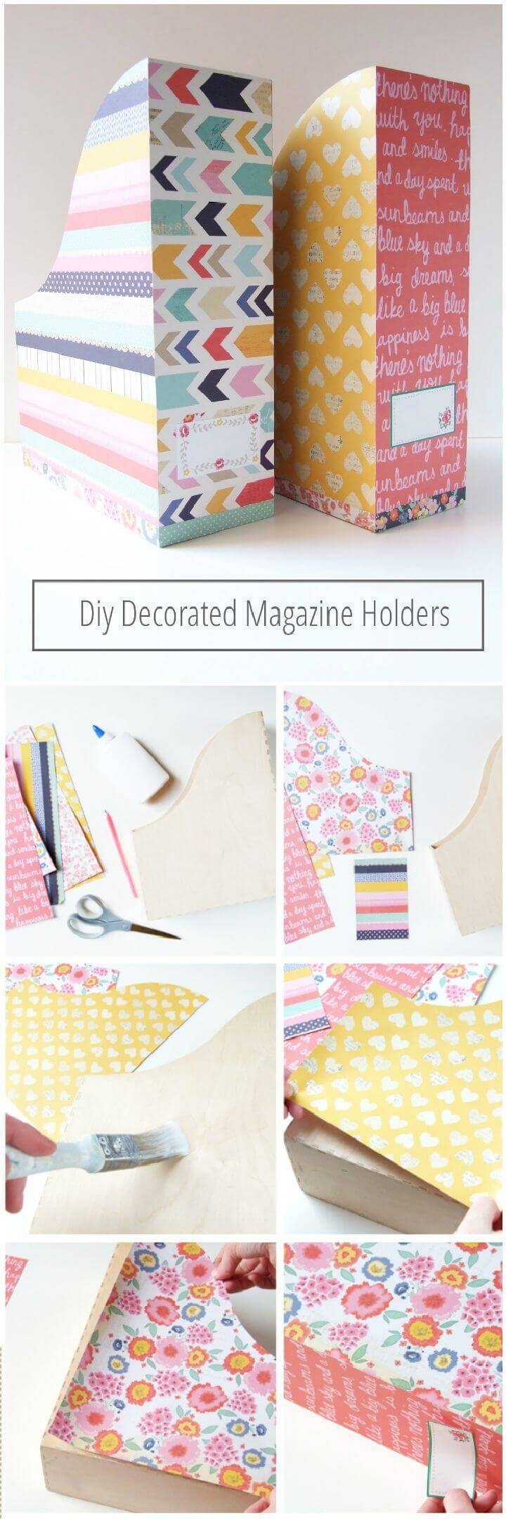 DIY Magazine Dacorated Holder