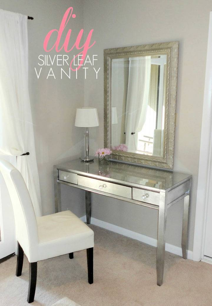 DIY easy makeup vanity makeover