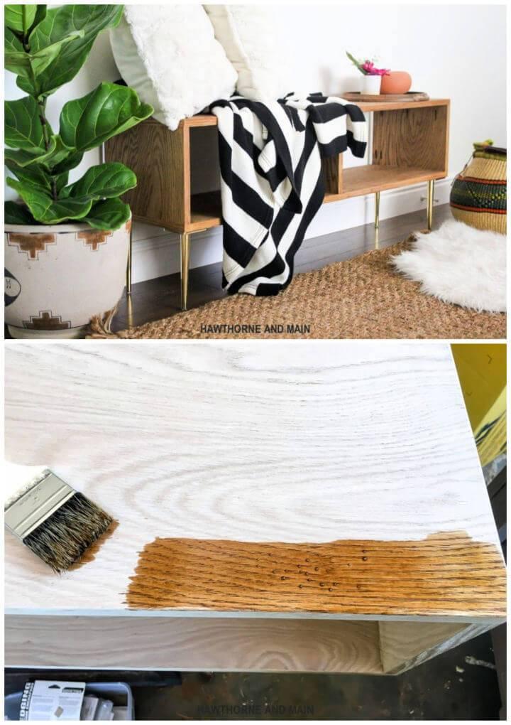 DIY Mid century Modern Bench