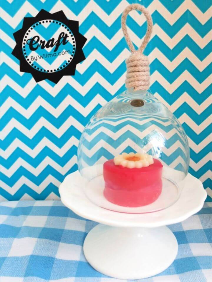 DIY Mini Bell Jar from a Broken Wine Glass