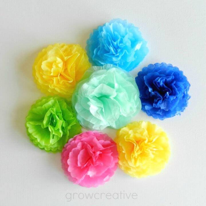 DIY Mini Tissue Paper Flowers Tutorial