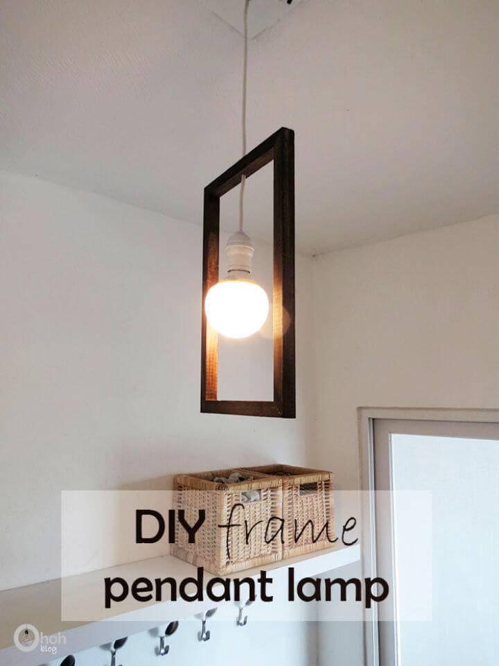 DIY Minimal Frame Pendant Lamp