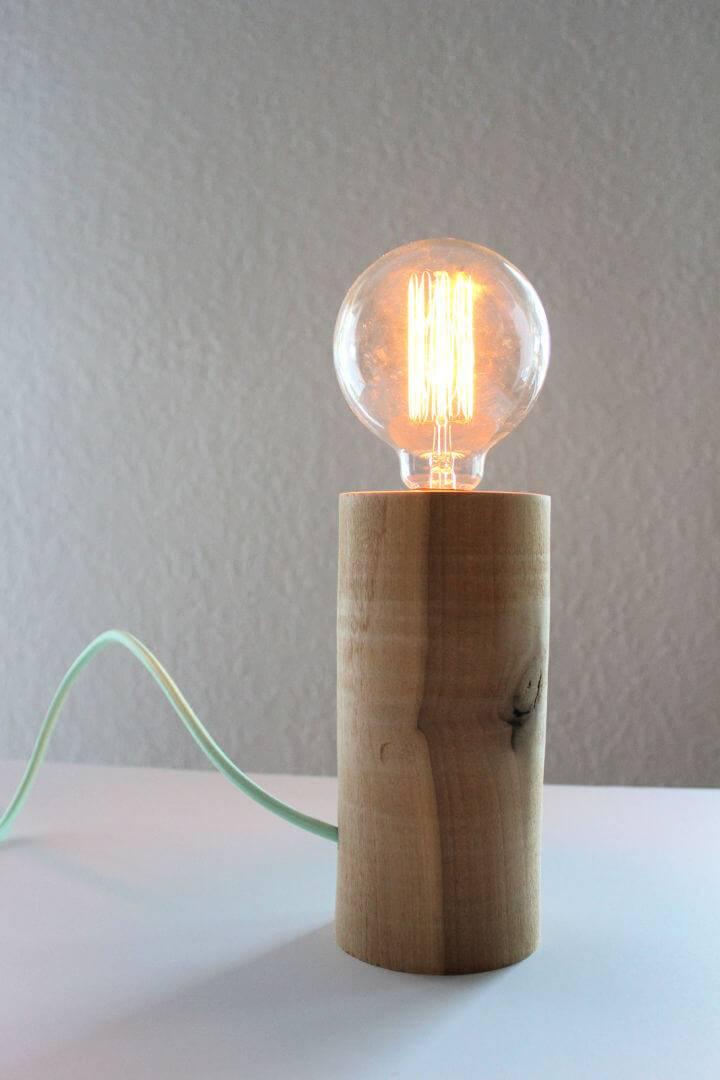 DIY Minimal Wood Lamp