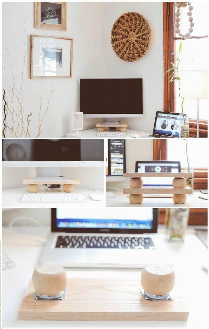 DIY Modern Monitor Stand