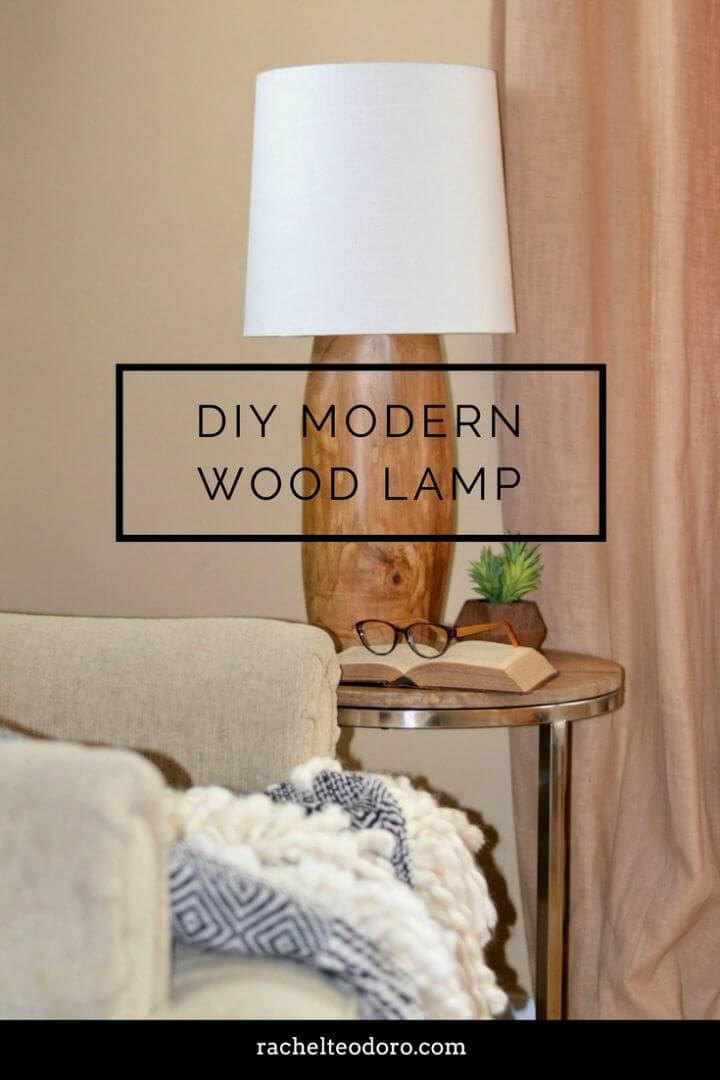 DIY Modern Tree Stump Natural Wood Lamp