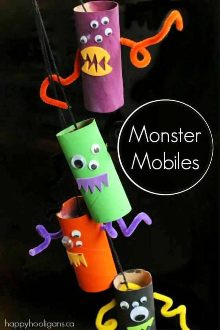 DIY Monster Mobile from Toilet Rolls