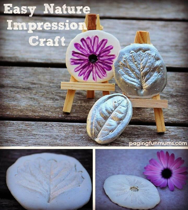 DIY Nature Impression Craft