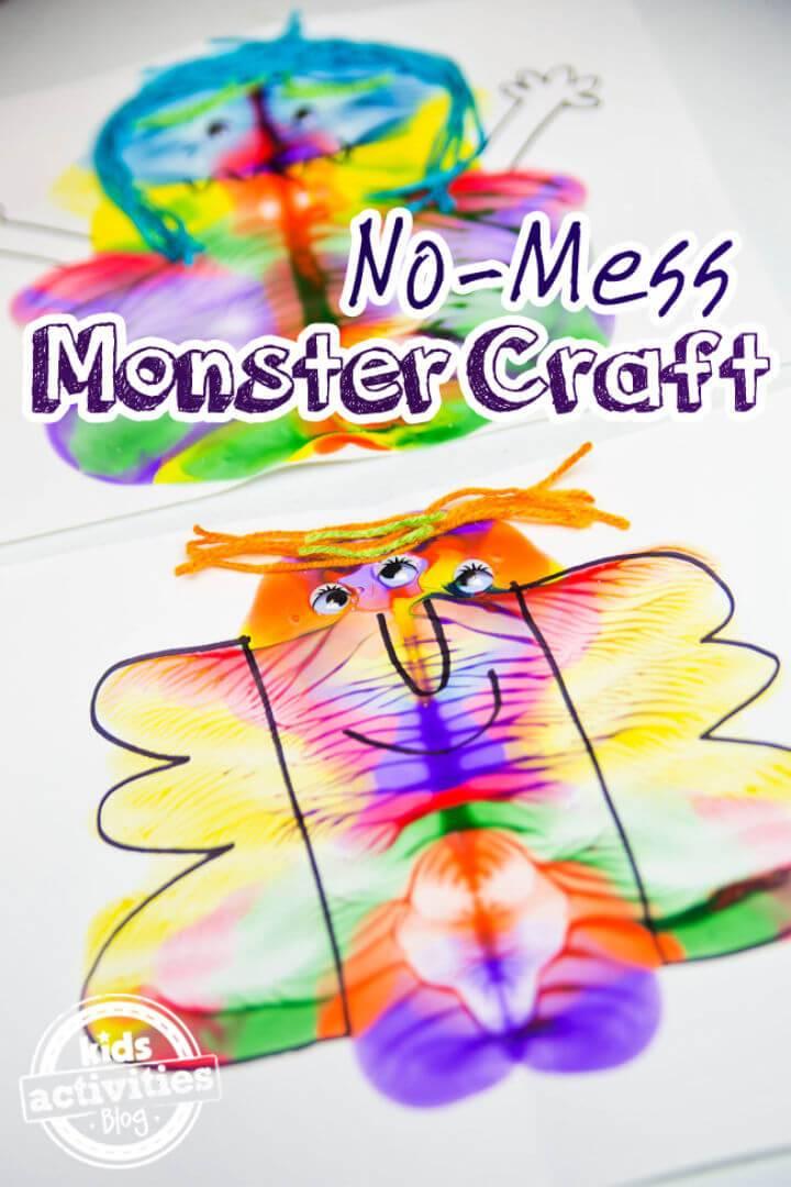 DIY No mess Monster Craft
