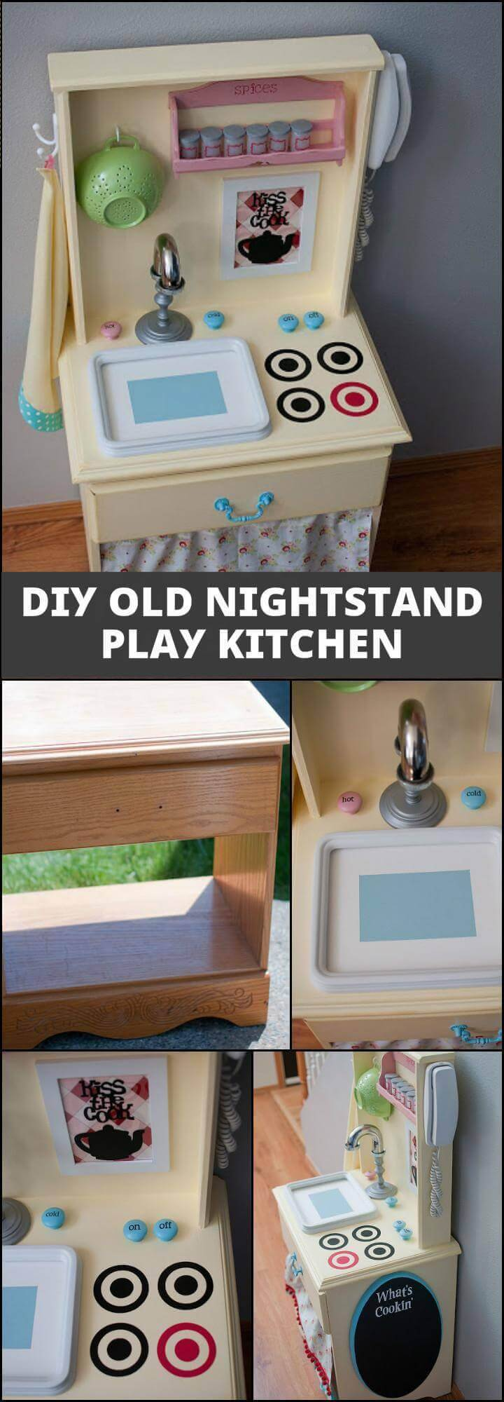 reclaimed old nightstand play kitchen