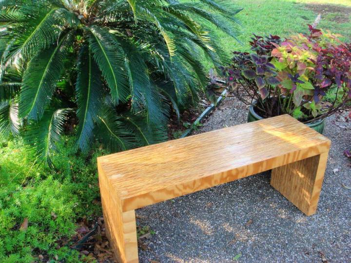 DIY One Sheet Plywood Bench