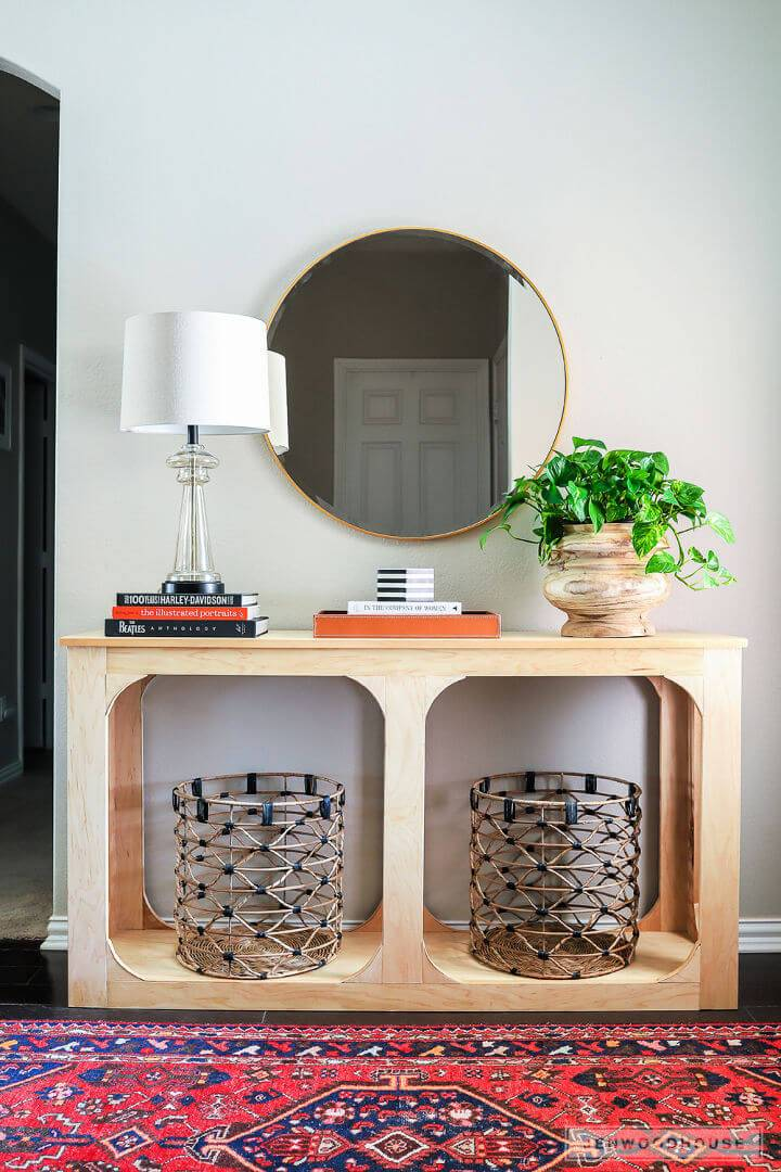 DIY One Sheet Plywood Console Table