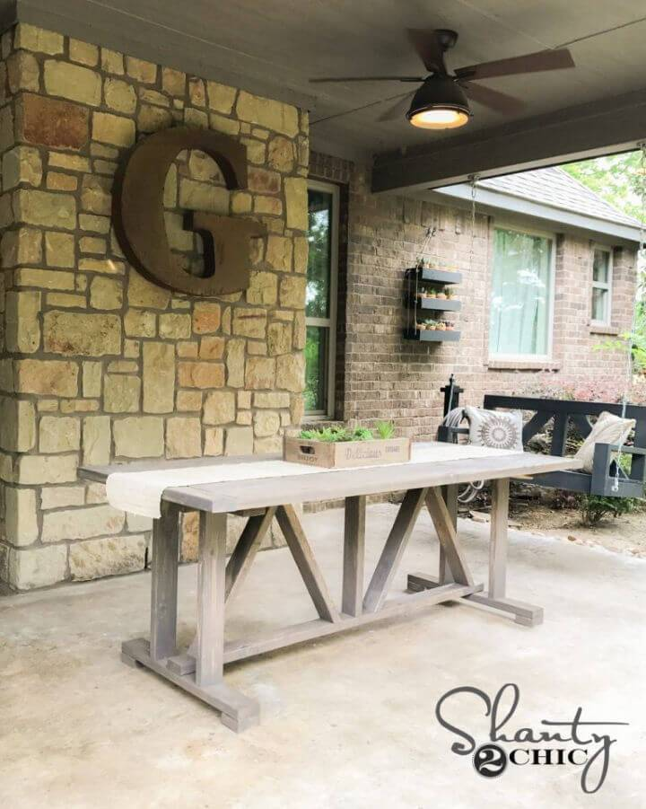 DIY Outdoor Dining Table Under 60