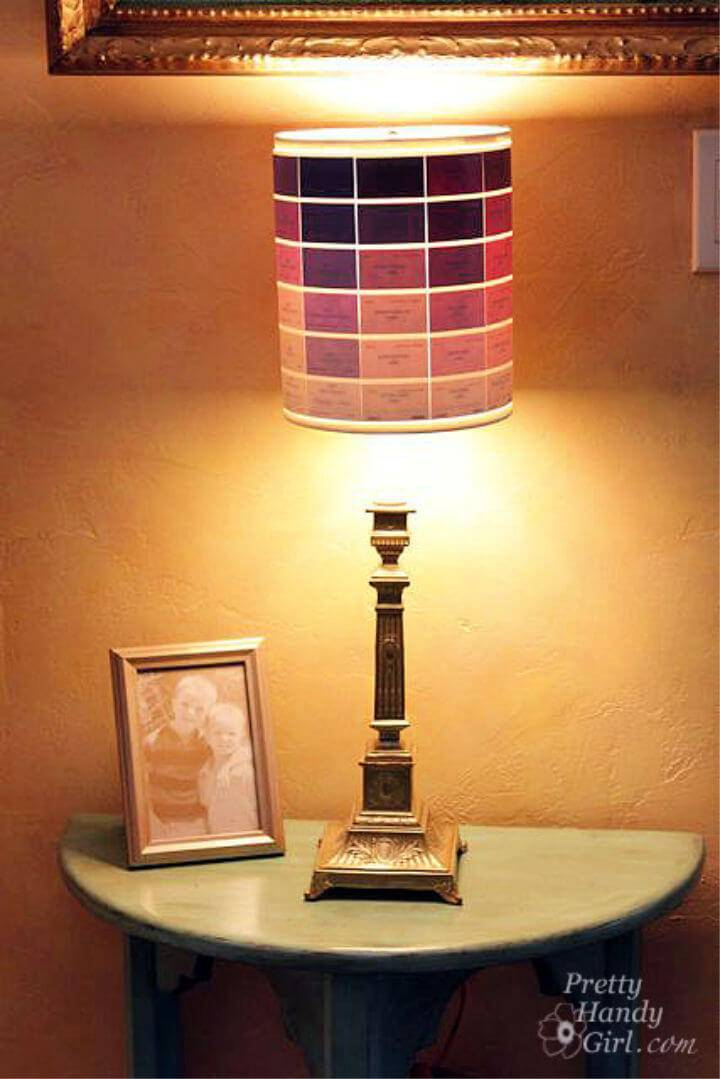 DIY Paint Chip Lamp Shade