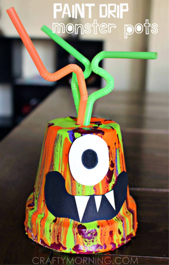 DIY Paint Drip Monster Pots