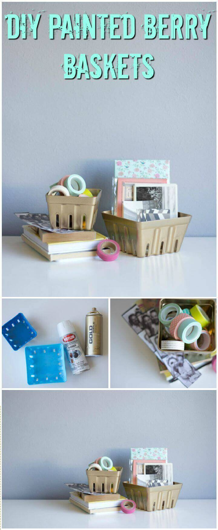 DIY Painted Berry Baskets
