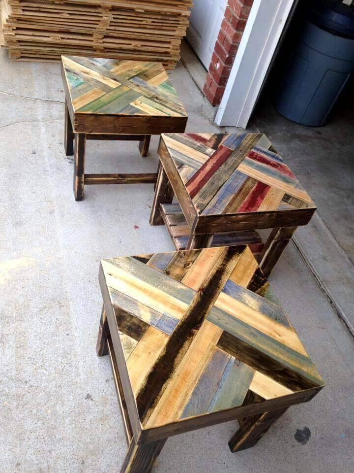 DIY Pallet End Tables