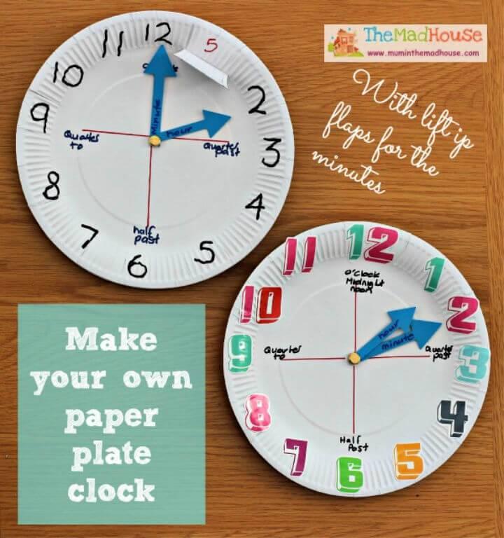 DIY Paper Plate Clock