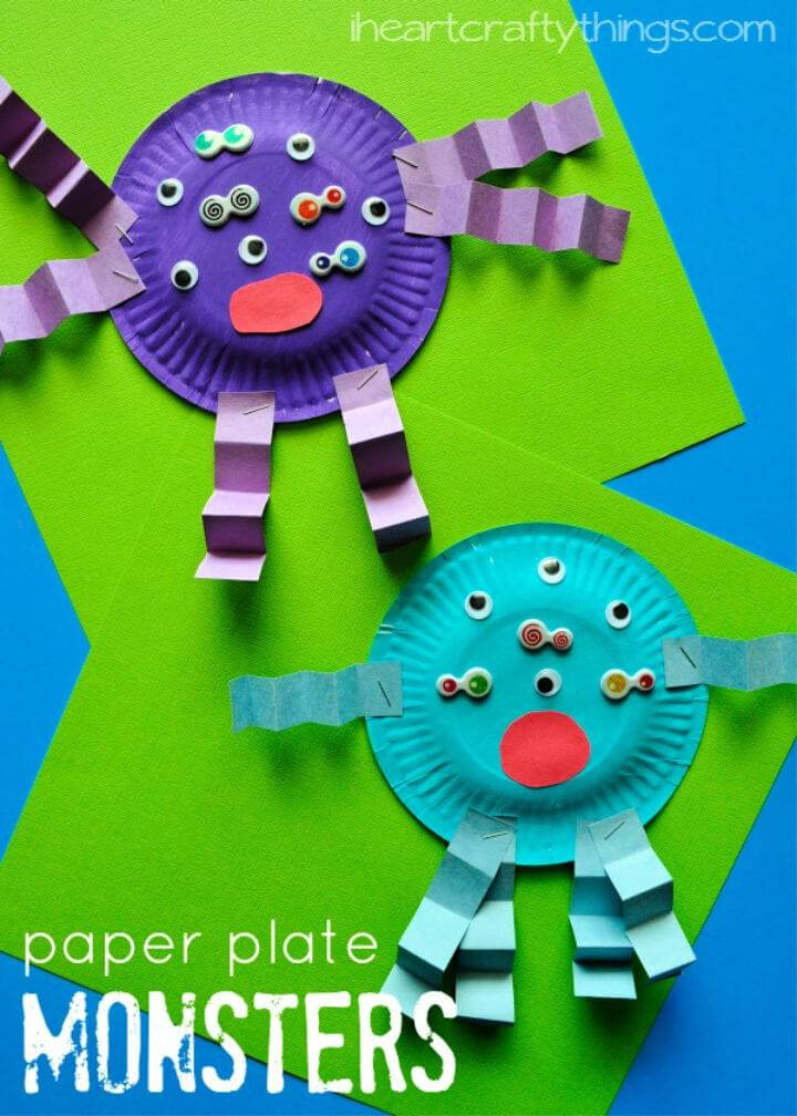 DIY Paper Plate Monster Kids Craft