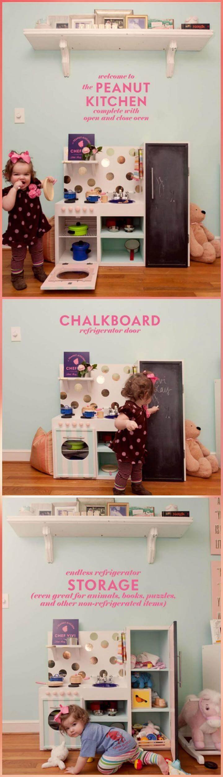 handmade DIY peanut play kitchen