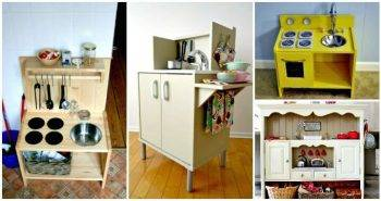 DIY Play Kitchen Projects For Your Kids