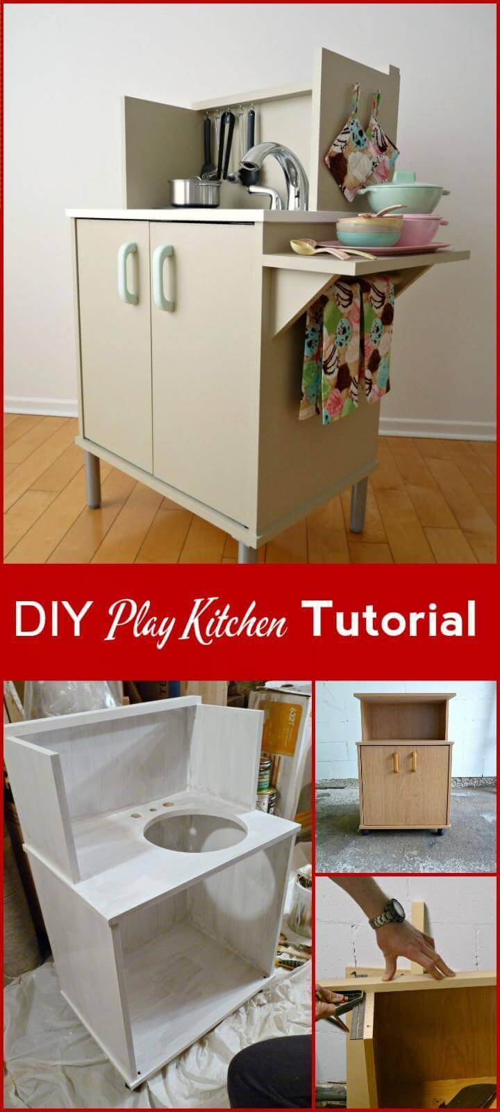 easy DIY play kitchen tutorial