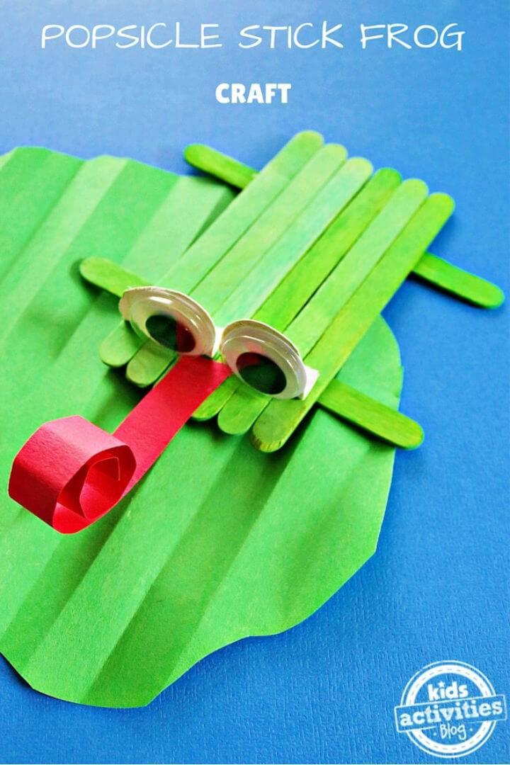 DIY Popsicle Stick Frog Craft for Camp
