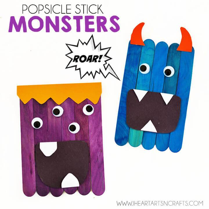 DIY Popsicle Stick Monsters