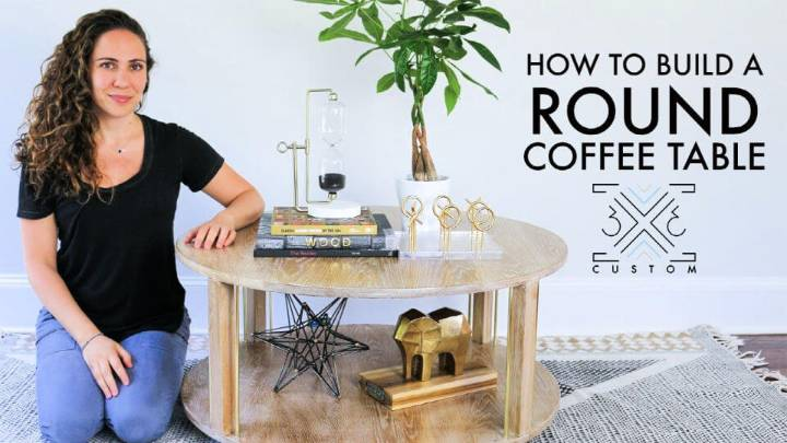 DIY Round Coffee Table Woodworking Project