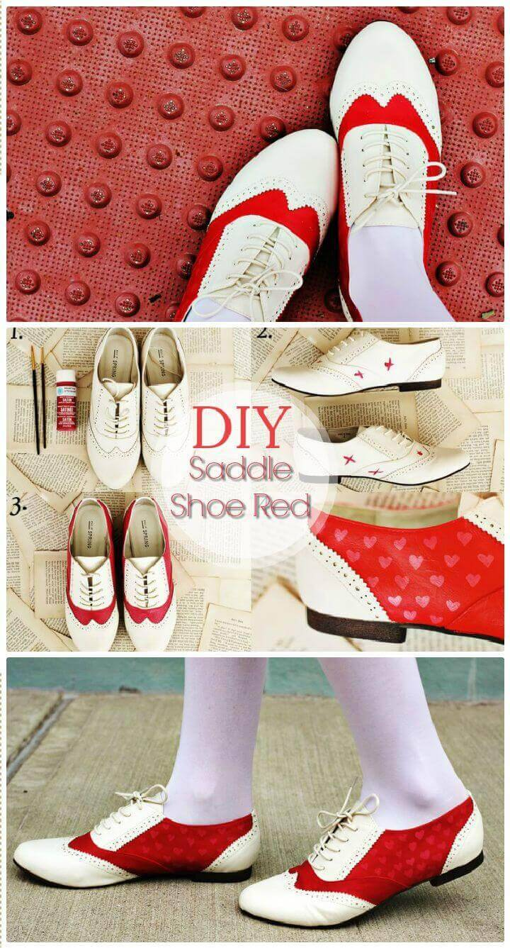 DIY Saddle Shoe Red