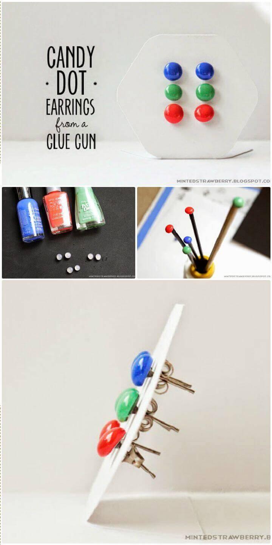 DIY Simple Candy Dot Earrings
