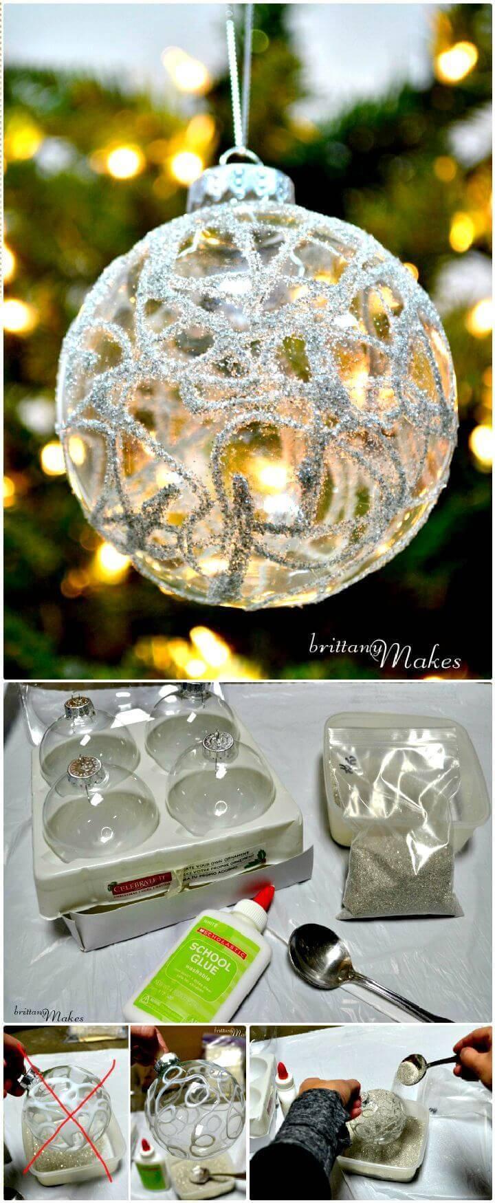 DIY Sparkly Christmas Ornaments