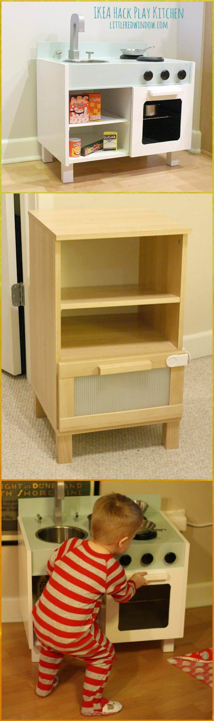 DIY super beautiful Ikea hack play kitchen