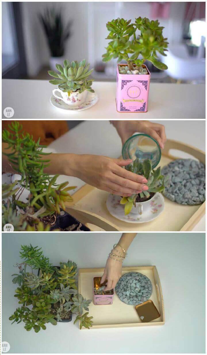 DIY TEATIME PLANTERS