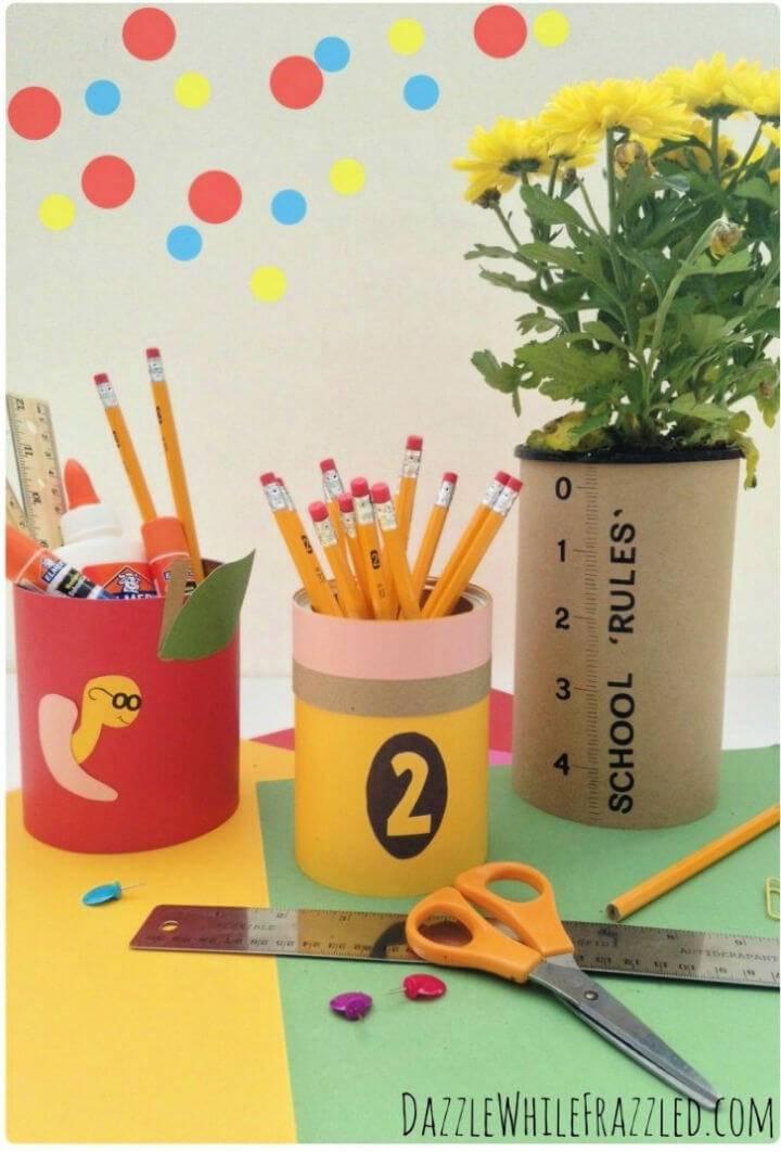 DIY Teacher Gift Tin Can Craft