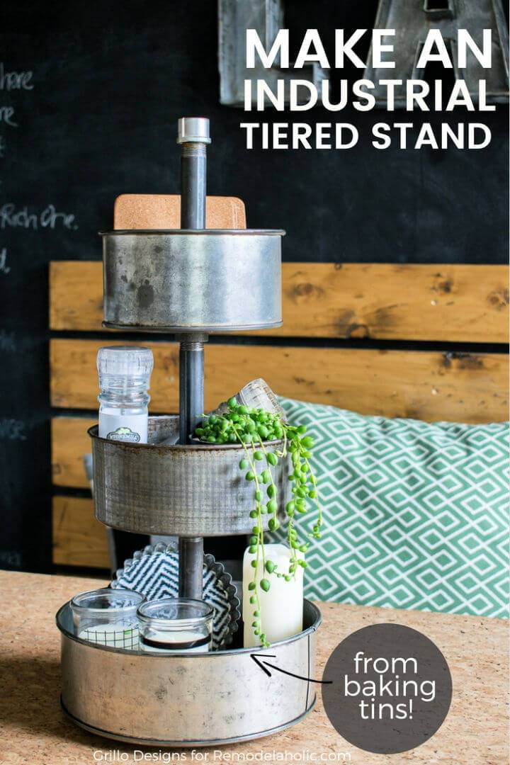 DIY Three Tiered Stand From Baking Tins