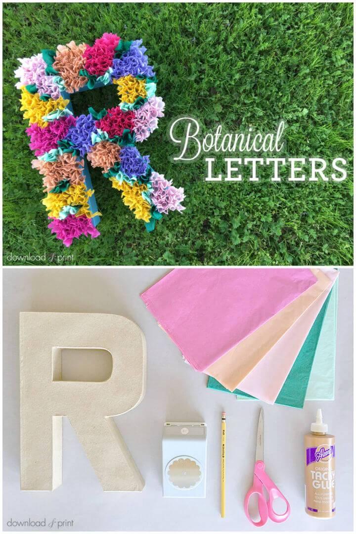 DIY Tissue Paper Flower Letters