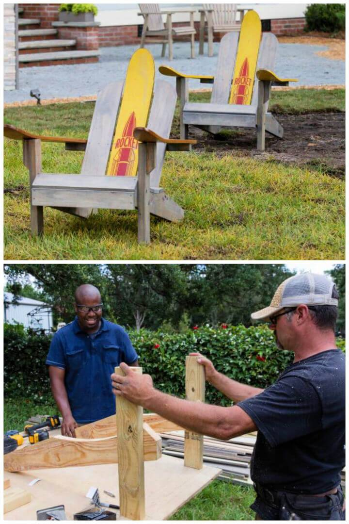 DIY Upcycled Adirondack Chairs