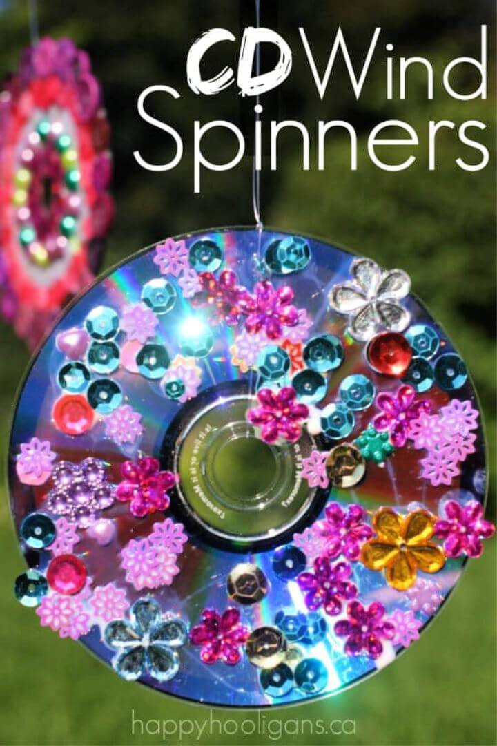 DIY Vibrant CD Wind Spinners
