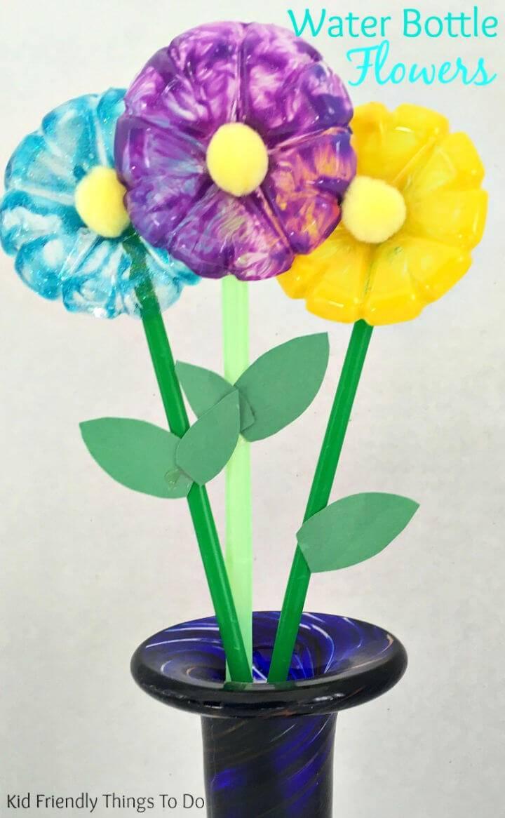 DIY Water Bottle Flowers Craft for Kids