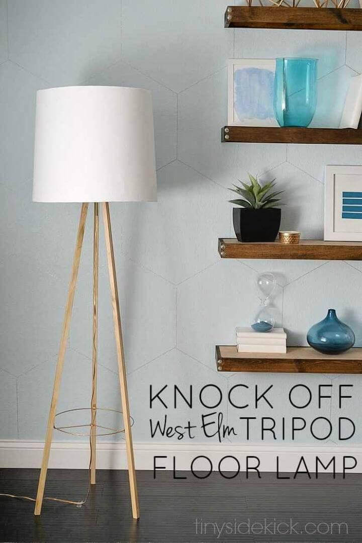 DIY West Elm Inspired Tripod Floor Lamp