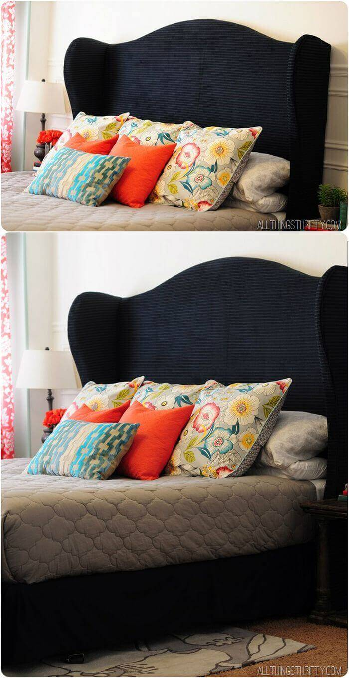 DIY Wingback Headboard Tutorial