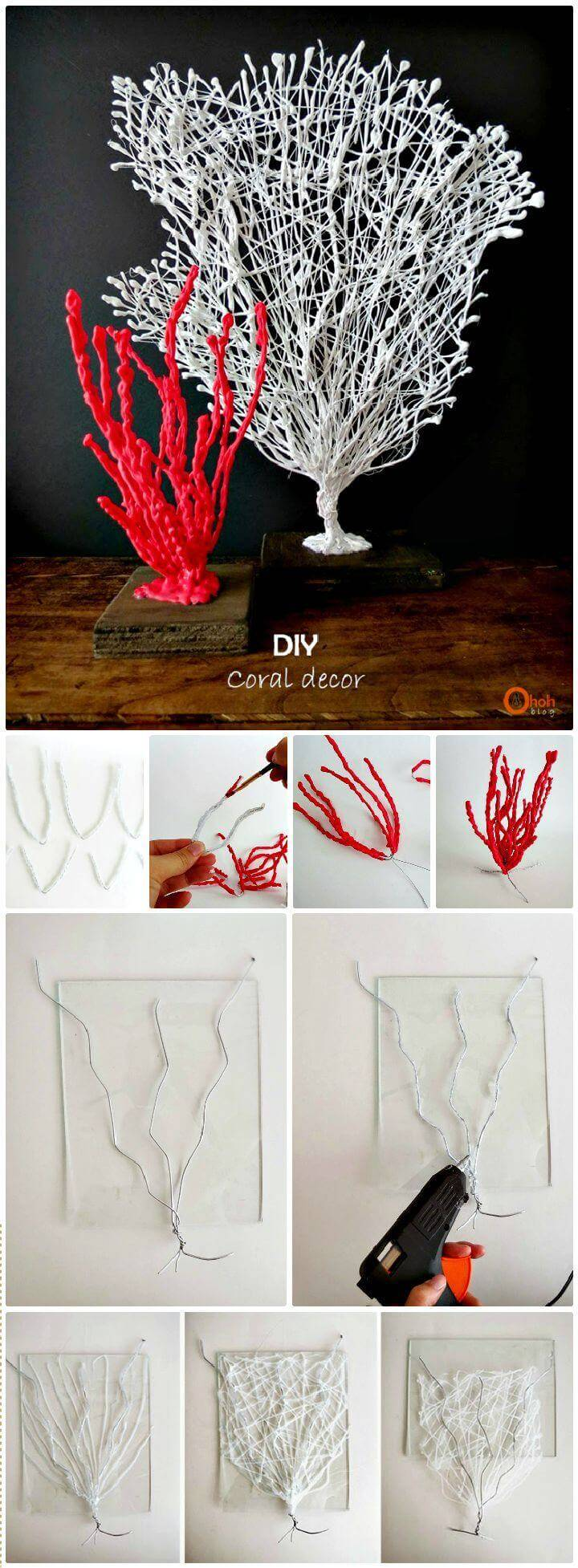 DIY Wire Coral Sculpture
