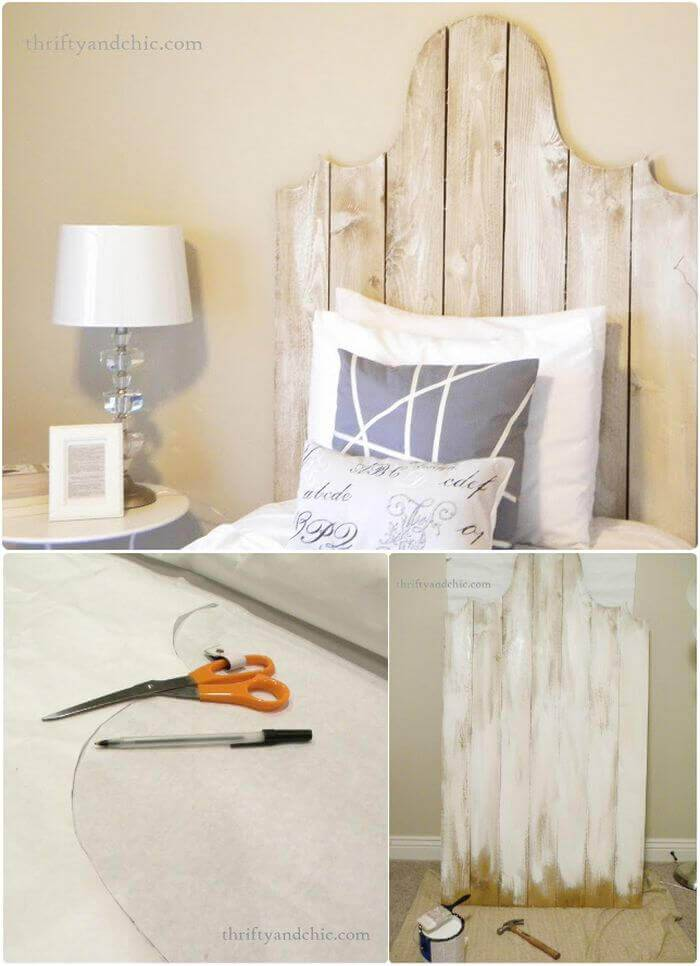 DIY Wood Headboard With A Little Curve
