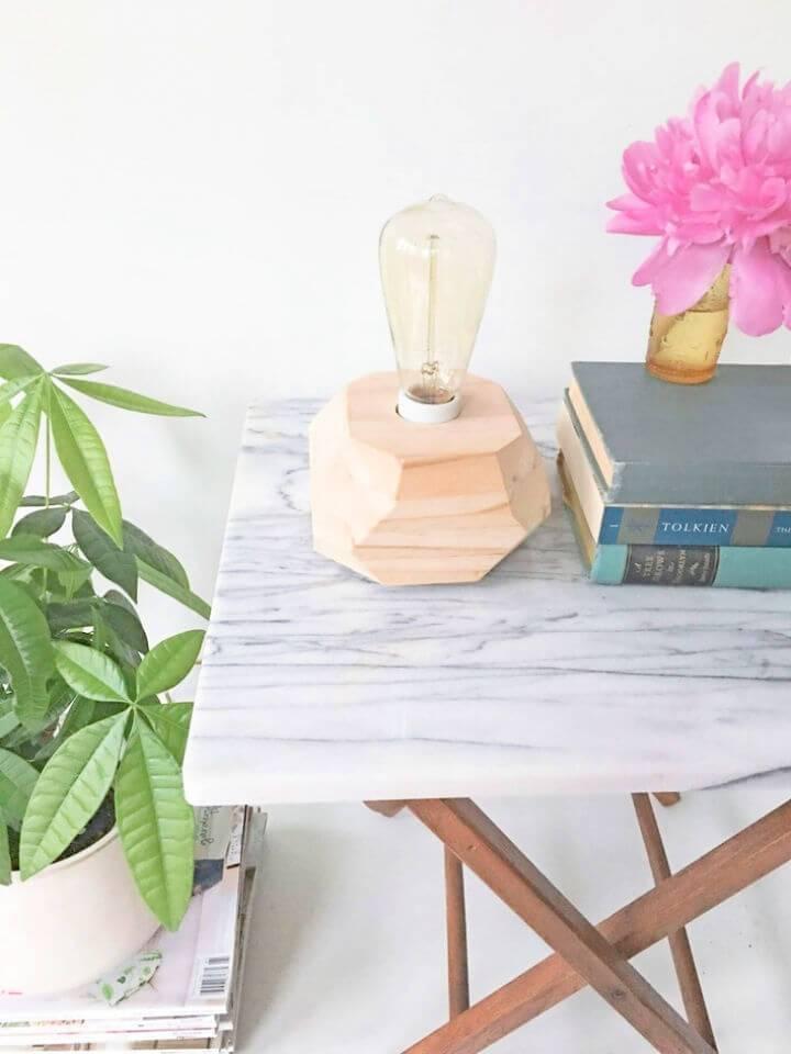 DIY Wooden Edison Bulb Table Lamp