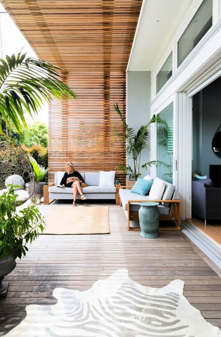 Deck Style Semi Enclosed Patio Cover