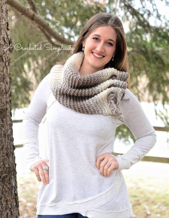 Easy Crochet Aveline Reversible Scarf Free Pattern