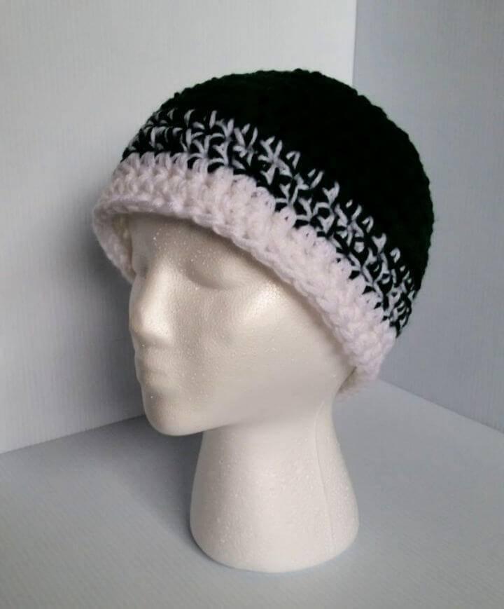 Easy Crochet Beanie Free Pattern