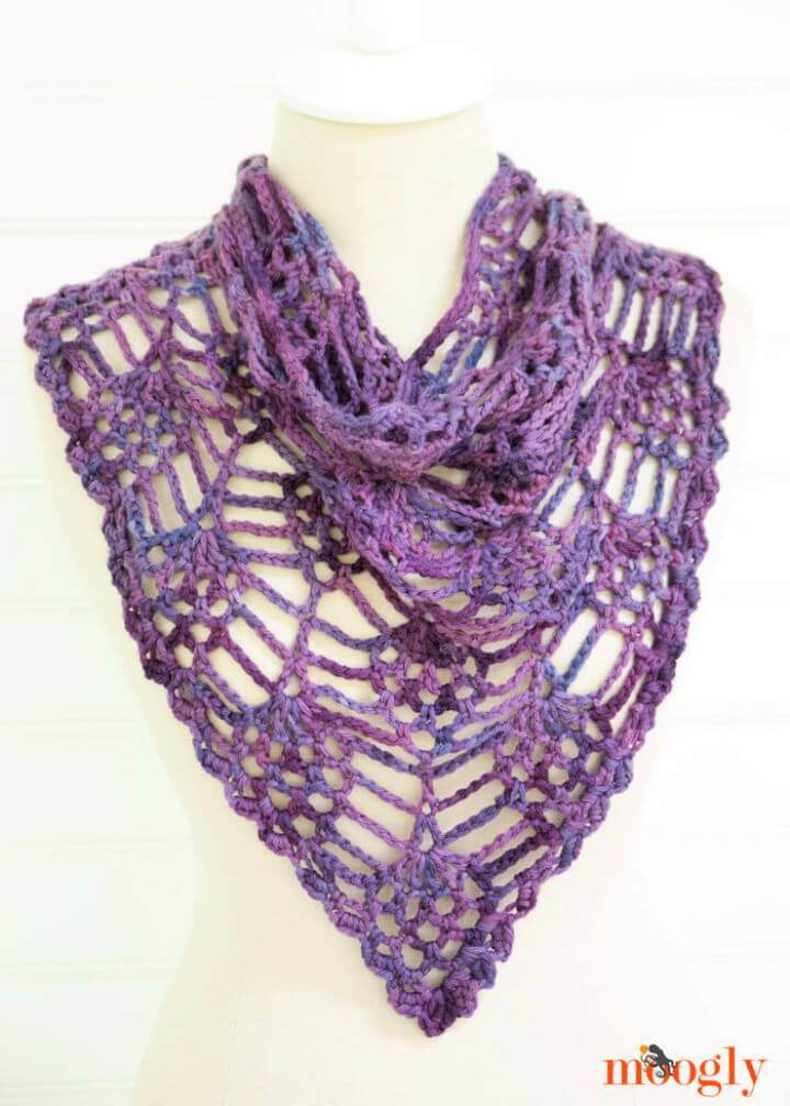 Easy Crochet Berry Harvest Bandana Cowl Free Pattern